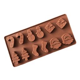 Molde Chocolate Navidad 6 Figuras