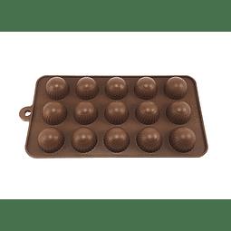 Molde Chocolate Bombón Redondo Silicona