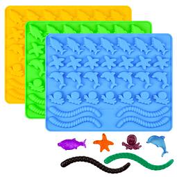 Molde Gomitas Oceano Silicona
