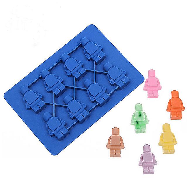 Molde 8 Figuras de Lego Silicona