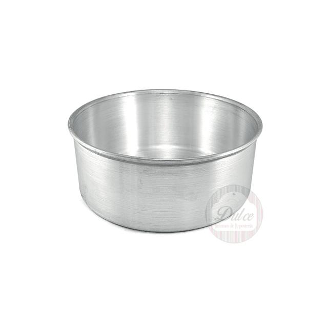 Molde Redondo 20 cm. Fijo Aluminio