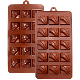 Molde Chocolate Cuadrado Diseño Silicona
