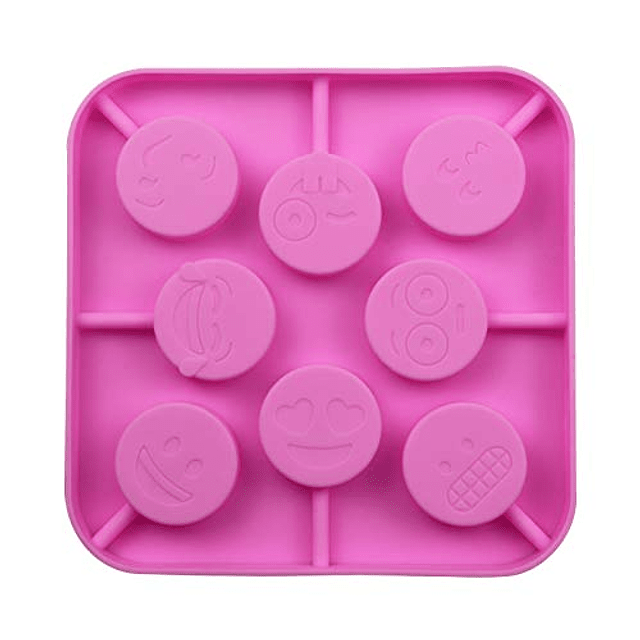 Molde Silicona Paletas Smiley Emoji