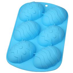 Molde Silicona Huevos con Diseños 6 Cavidades