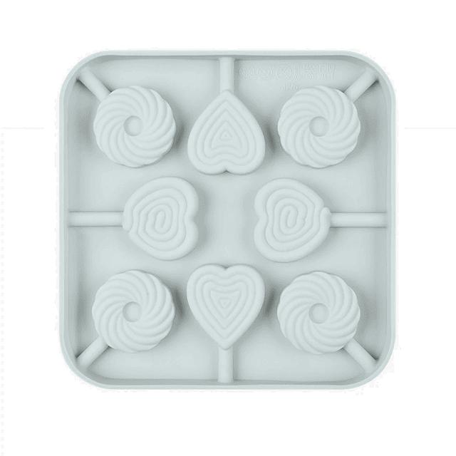 Molde Silicona Paletas Corazón y Roscas