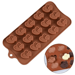 Molde Chocolate Silicona 2 Corazones