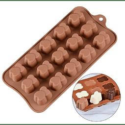 Molde Chocolate Silicona Corazón Doble
