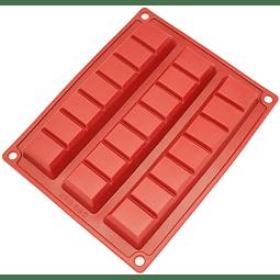 Molde Chocolate Silicona 3 Barras Grandes