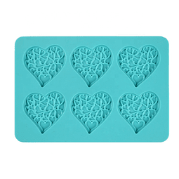 Molde Chocolate Silicona Corazón con Corazones