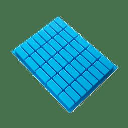 Molde 40 Barras Rectangulares Silicona