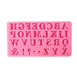 Molde Fondant  Alfabeto Y Símbolos Silicona
