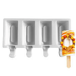 Molde Helado Cakesicles Rectangular Liso Silicona