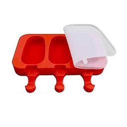 Molde Helado Cakesicles Liso 3 Cavidades Silicona