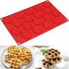 Molde Mini Waffles Redondo 18 Cavidades Silicona