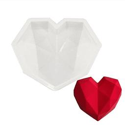 Molde Silicona Corazón Diamante Grande