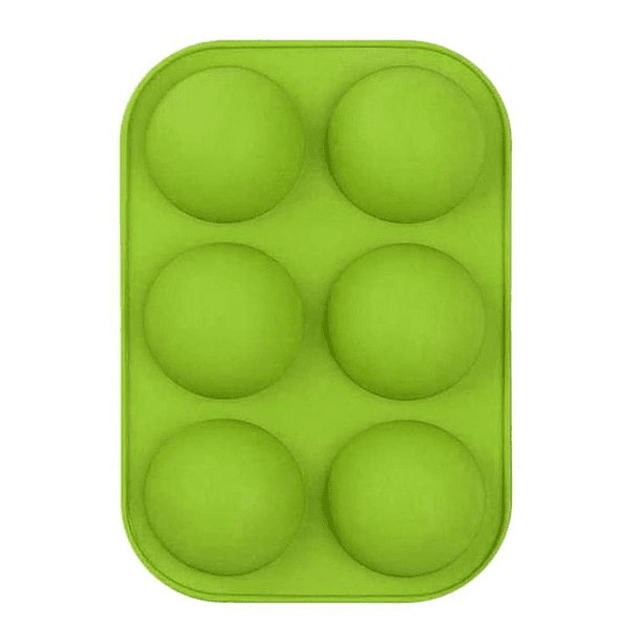 Molde Silicona Semi Esfera 6 Cavidades