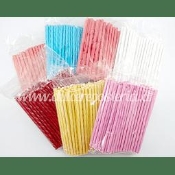Palitos Plásticos para Paleta 10 cm 100 unid.
