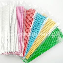 Palitos Plásticos 18 cm. para Paleta 25 unid.
