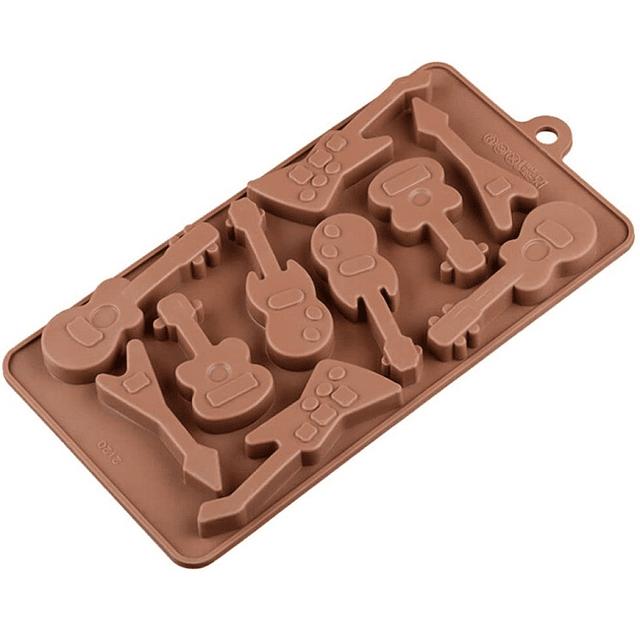 Molde Chocolate Silicona Guitarras