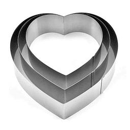 Set Moldes para Mousse Corazón 3 Piezas