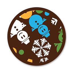 Transfer para Chocolate Muñeco de Nieve