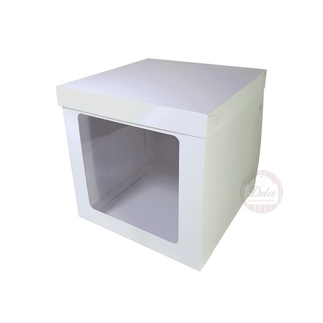Caja Cartulina para Torta c/Ventana 25cm.