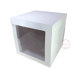 Caja Cartulina para Torta c/Ventana 30cm.