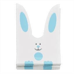 Set Bolsa Conejo Celeste Chica 10 Unidades