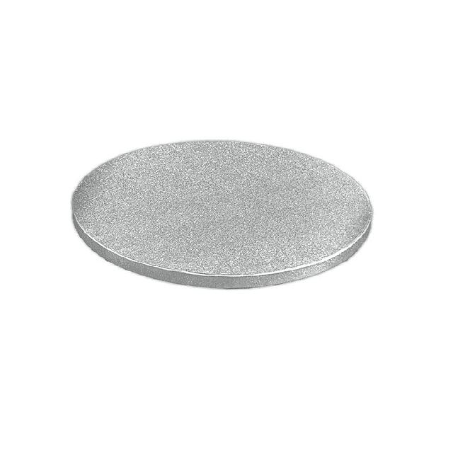 Bandeja Plateada Redonda 25 cm. Gruesa