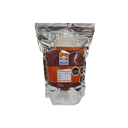 Chips de Chocolate 72% Cacao Middle of the World 1 Kg.