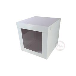 Caja Cartulina para Torta c/Ventana 20 cm