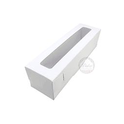 Caja Cartulina para Macarrones 18x5x5 cm.