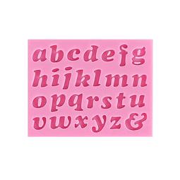 Molde Fondant Silicona Letras Minúsculas