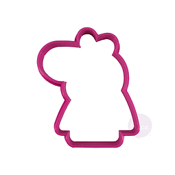 Cortador Plástico Peppa Pig