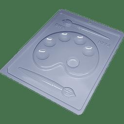 Molde Chocolate Plástico BWB Paleta de Pintura y Pincel - 9774