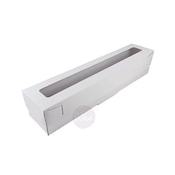 Caja Cartulina para Macarrones 25x5x5 cm.