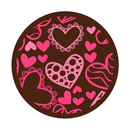Transfer para Chocolate Corazones 02-472