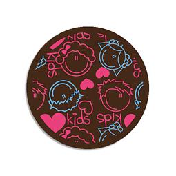 Transfer para Chocolate Kids Celeste y Fucsia