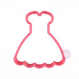 Cortador Plástico Vestido Princesa