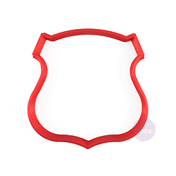 Cortador Plástico Escudo de Chile
