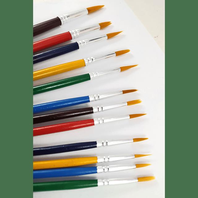 Set de Pinceles 12 Piezas