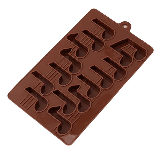 Molde Chocolate Notas Musicales Silicona