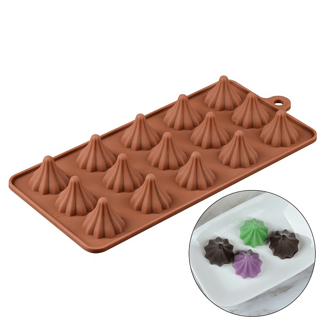 Molde Chocolate Gotita Acanalada Silicona