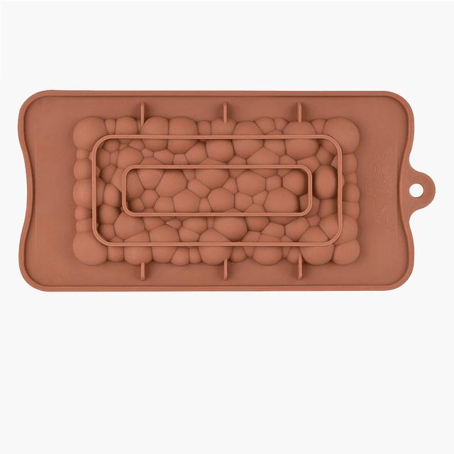 Molde Chocolate Tableta Burbujas Silicona