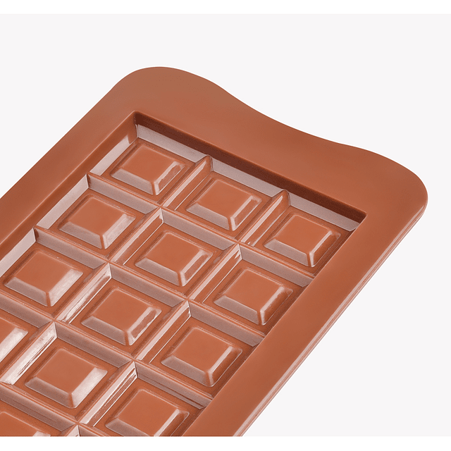 Molde Chocolate Tableta Cuadros Silicona