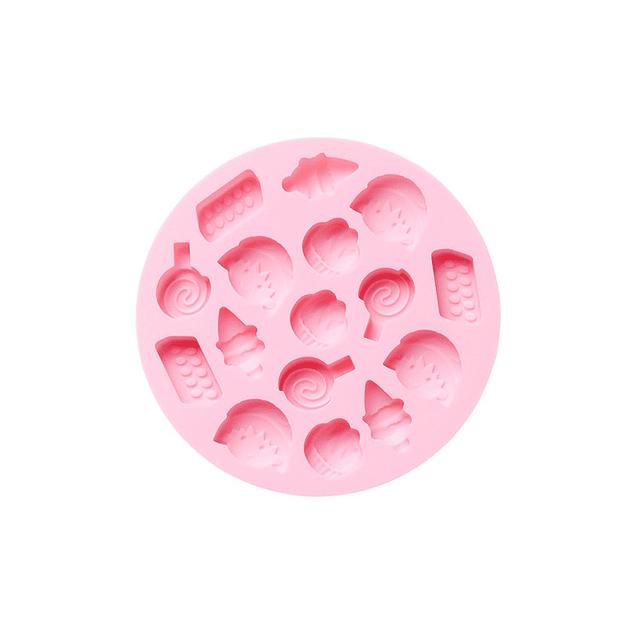 Molde Silicona Candy Redondo