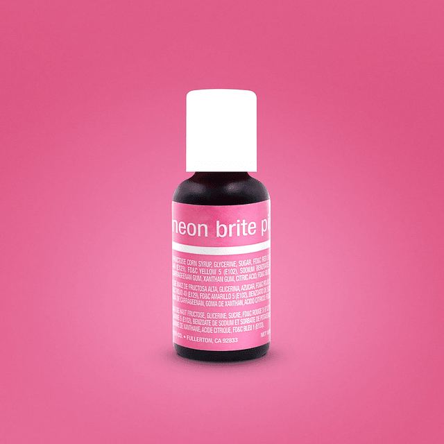 Colorante Gel Neon Brite Pink Chefmaster 20 gr.