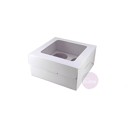 Caja Cupcakes 4x Blanca Cartulina