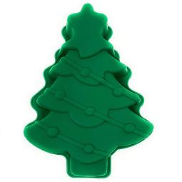 Molde Pino Grande Navidad Silicona