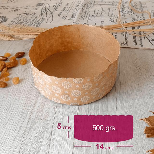 Molde Papel Pan de Pascua 14x5 500 gr. 10 unidades